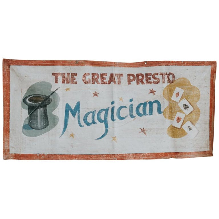 Early 20th Century Circus Banner For Sale