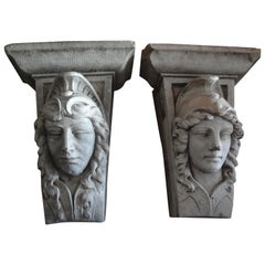 Early 20th Century Classical Style Architectural Wall Corbels