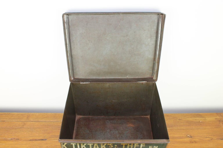 Early 20th Century Coffee and Tea Tin Box K. Tiktak's For Sale 5