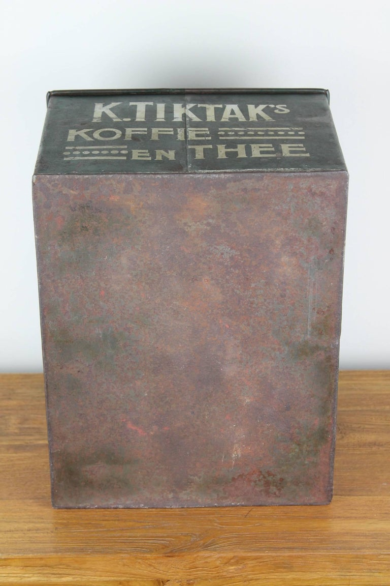 Early 20th Century Coffee and Tea Tin Box K. Tiktak's For Sale 6