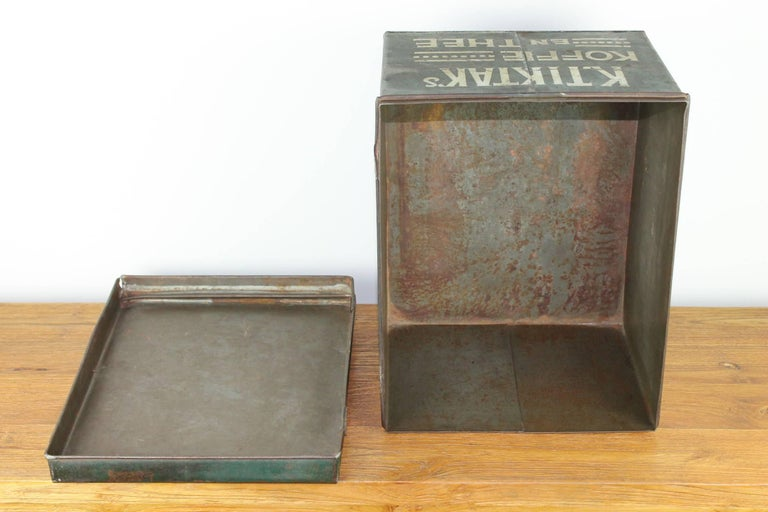 Early 20th Century Coffee and Tea Tin Box K. Tiktak's For Sale 7
