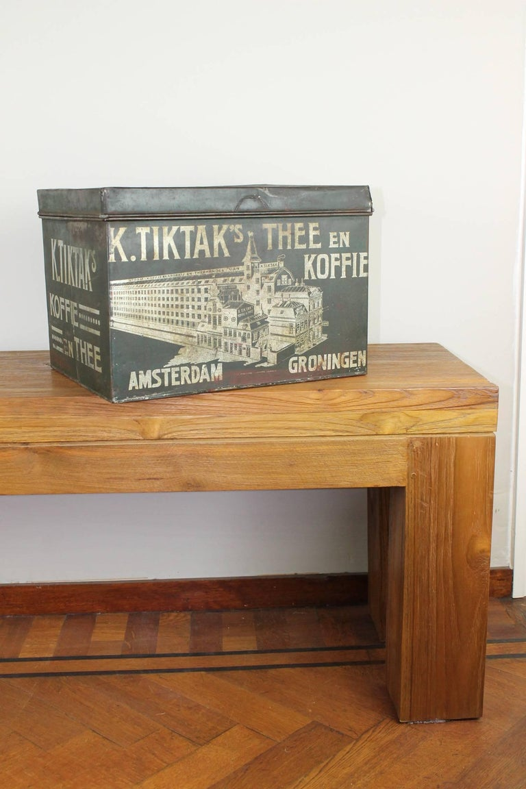Early 20th Century Coffee and Tea Tin Box K. Tiktak's For Sale 10