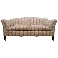 Early 20th Century Comfortable Large Sofa, the Portarlington by Howard and Sons