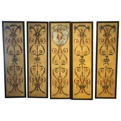 Early 20th Century Continental Hand Painted Panels