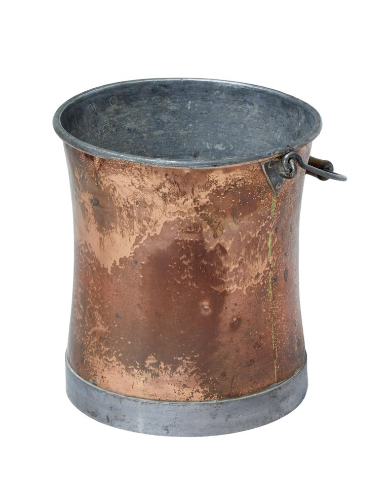 Early 20th century pail, circa 1900.