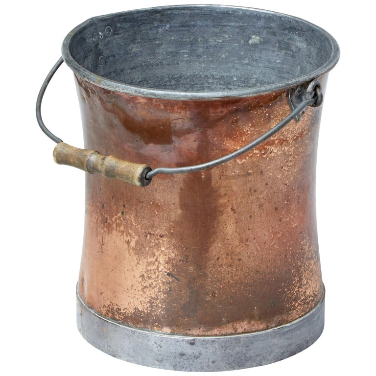 Early 20th Century Copper Pail For Sale
