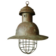 Early 20th Century Copper Pendant Light