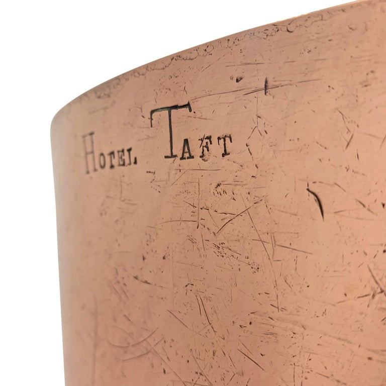 American Early 20th Century Copper Pot from Hotel Taft, NYC For Sale