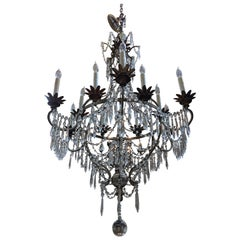 Early 20th Century Crystal Chandelier from France