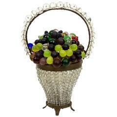 Early 20th Century Czech Glass Fruit Lamp