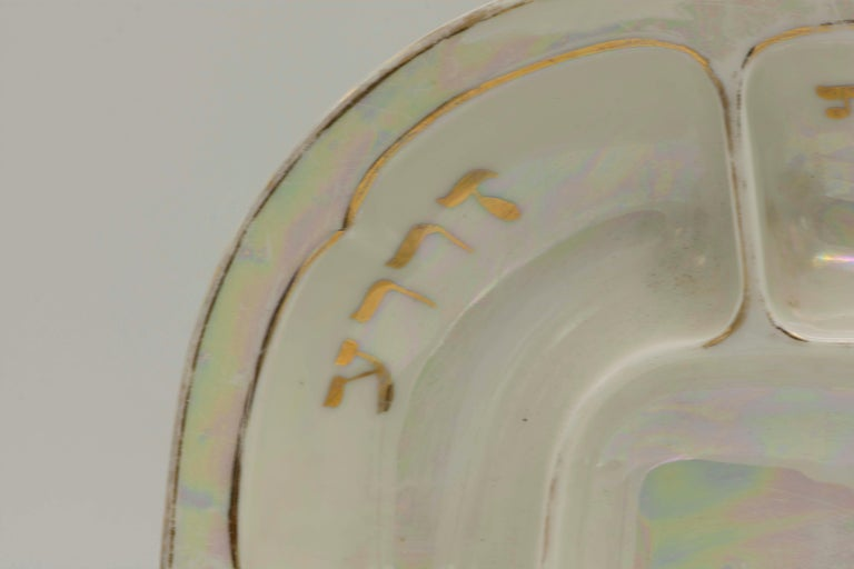 Early 20th Century Czech Porcelain Passover Seder Plate For Sale 2