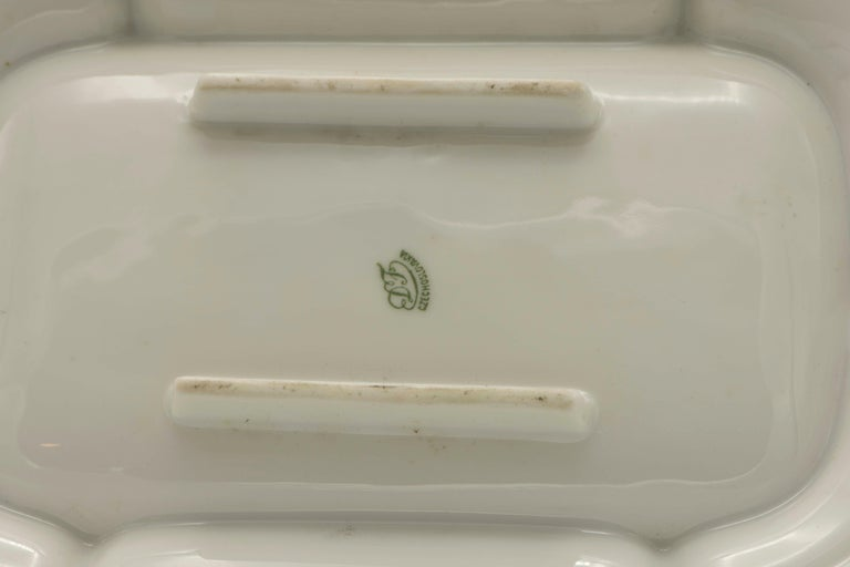 Early 20th Century Czech Porcelain Passover Seder Plate For Sale 5