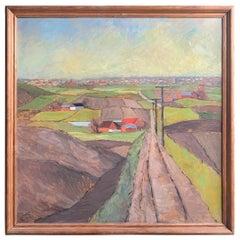 Early 20th Century Danish Plein Air Landscape Painting