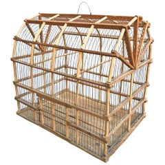 Early 20th Century Dutch Colonial Barn Birdcage