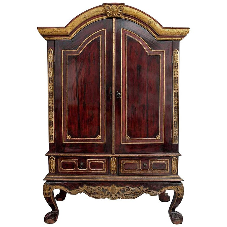 Early 20th Century Dutch Colonial Cabinet For Sale