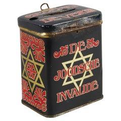 Early 20th Century Dutch Tin Charity Box