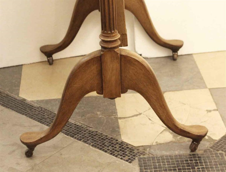 Early 20th Century Eastlake Carved Fruit Wood Cheval Mirror For Sale 5
