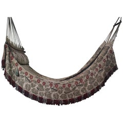 Early 20th Century Edwardian Campaign County House Hammock Day Bed