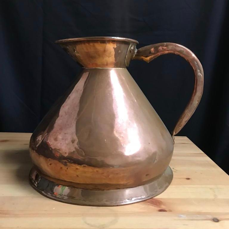 English Early 20th Century Edwardian Copper Two Gallon Haystack Measure For Sale