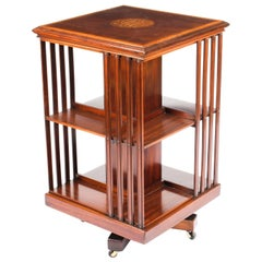 Early 20th Century Edwardian Revolving Bookcase by Edwards & Roberts