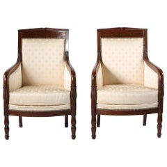 Early 20th Century Edwardian Style Mahogany Set Armchairs
