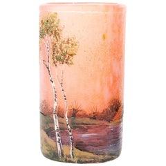 "Early 20th Century Enameled Vase ""Fernandez"""