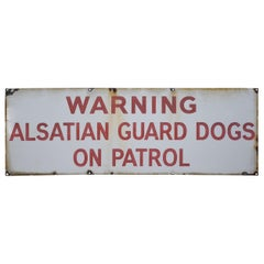 Early 20th Century Enamelled Alsatian Sign
