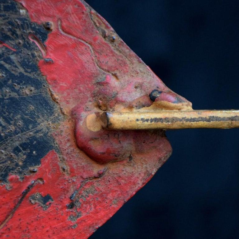 British Early 20th Century English Cast Iron Folk Art Galleon Weathervane For Sale
