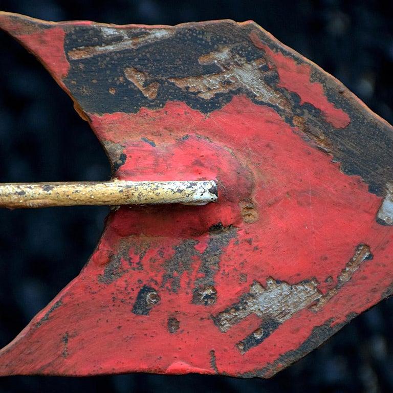 Wrought Iron Early 20th Century English Cast Iron Folk Art Galleon Weathervane For Sale
