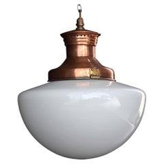 Early 20th Century English Copper Light Shade