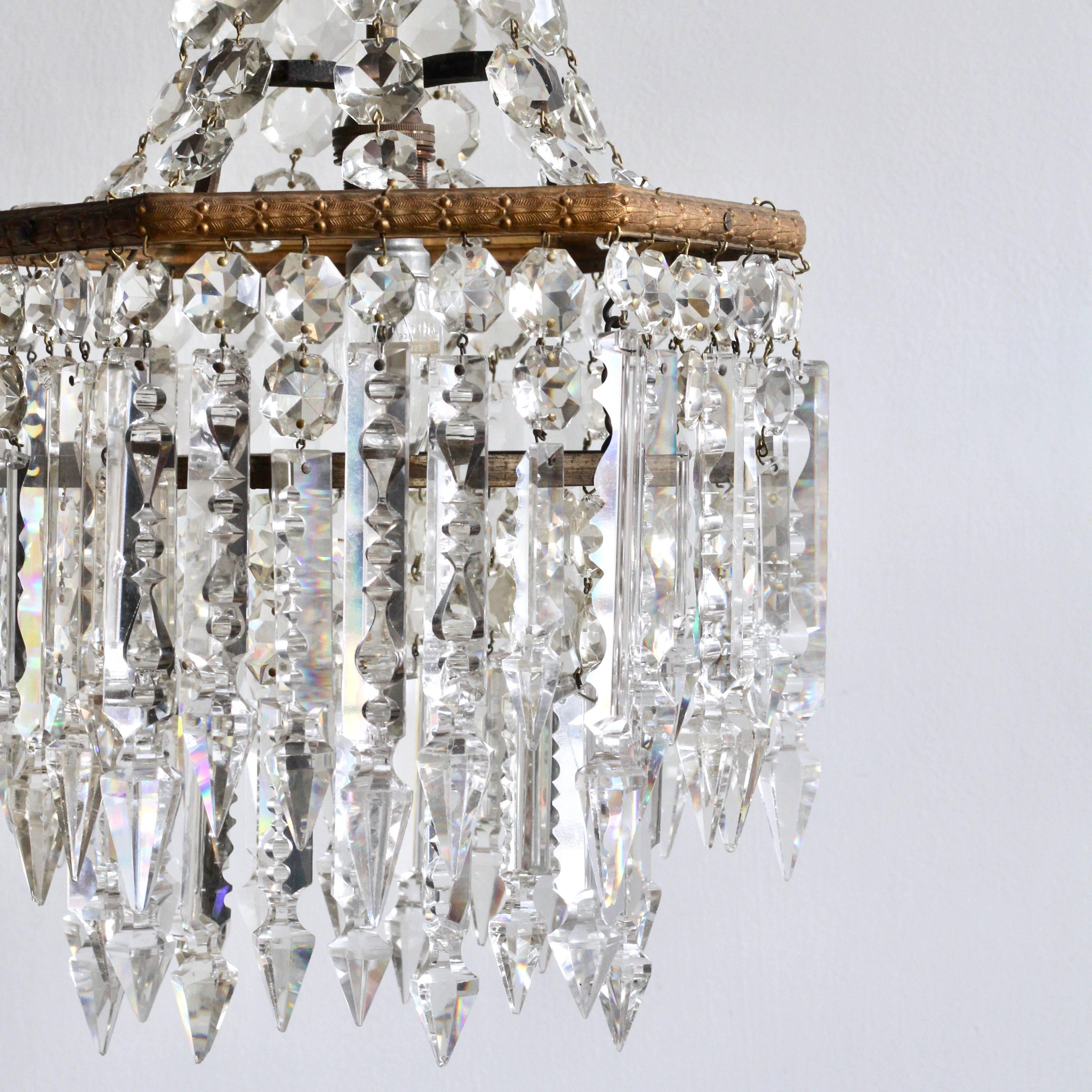 Early 20th century english crystal chandelier with prince albert early 20th century english crystal chandelier with prince albert crystal lusters for sale at 1stdibs aloadofball Gallery
