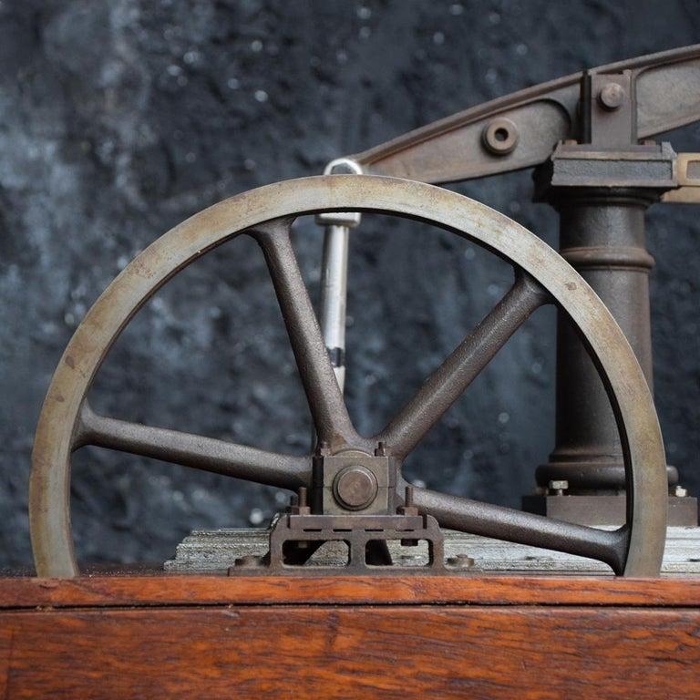 Folk Art Early 20th Century English Engineers Window Display Bronze Pump Model For Sale