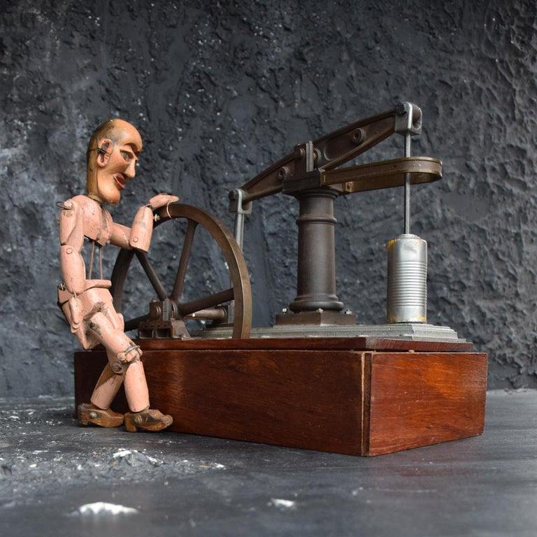 British Early 20th Century English Engineers Window Display Bronze Pump Model For Sale