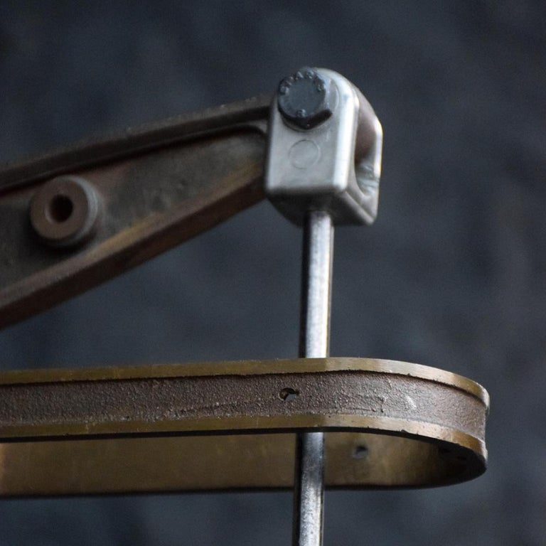 Early 20th Century English Engineers Window Display Bronze Pump Model For Sale 2