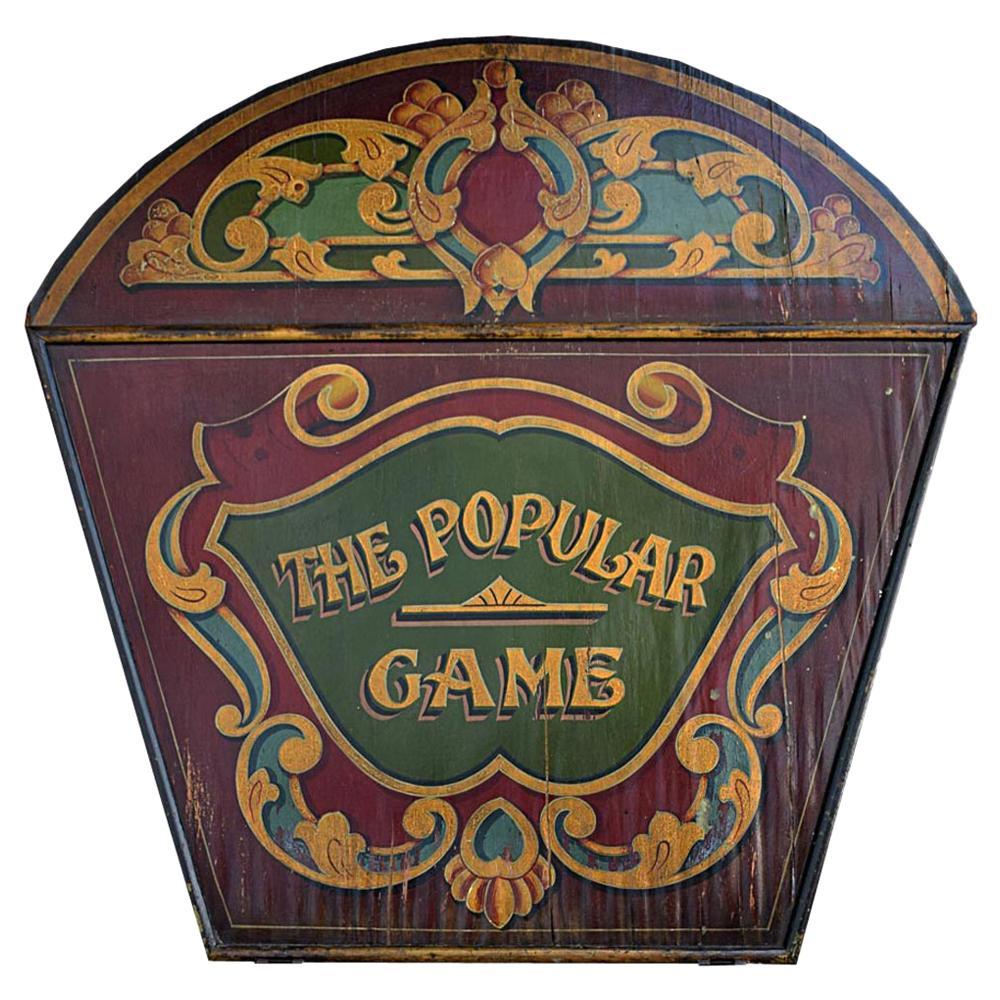 Early 20th Century English Fairground Carousel Panel