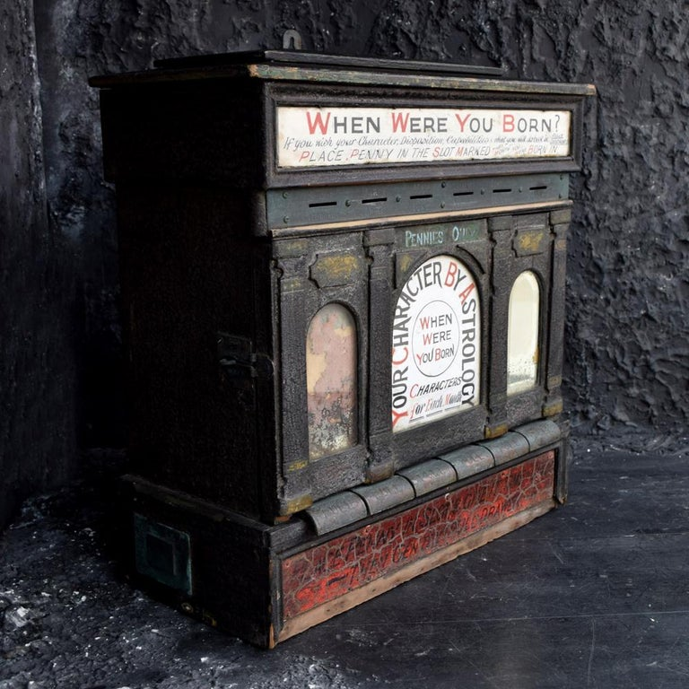 Early 20th Century English Fairground Fortune Telling Penny Machine For Sale 5