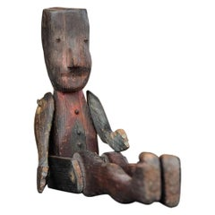 Early 20th Century English Folk Art Jigger Doll