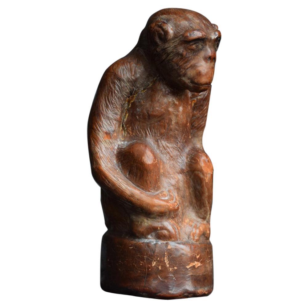 Early 20th Century English Folk Art Leather Monkey Form