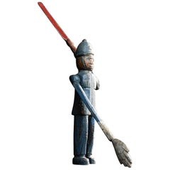 Early 20th Century English Folk Art Whirligig Policeman Figure