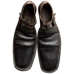 Early 20th Century English Handmade Leather Clown Shoes