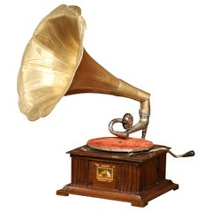 "Early 20th Century English ""His Master's Voice"" Gramophone from Hayes Middlesex"