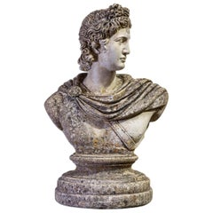 Early 20th Century English Large Stone Roman Bust