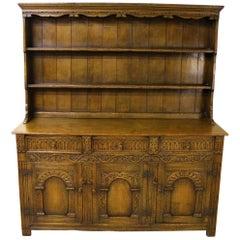 Early 20th Century English Oak Dresser