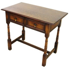 Early 20th Century English Oak Side Table