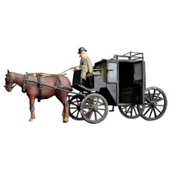 Early 20th Century English Scratch Built Hackney Carriage Model, circa 1910