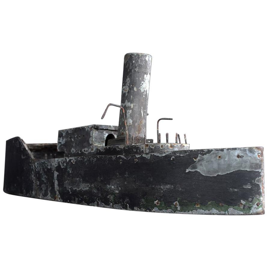 Early 20th Century English Scratch Built Zinc Ship Model