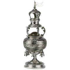 Early 20th Century English Silver Spice Tower