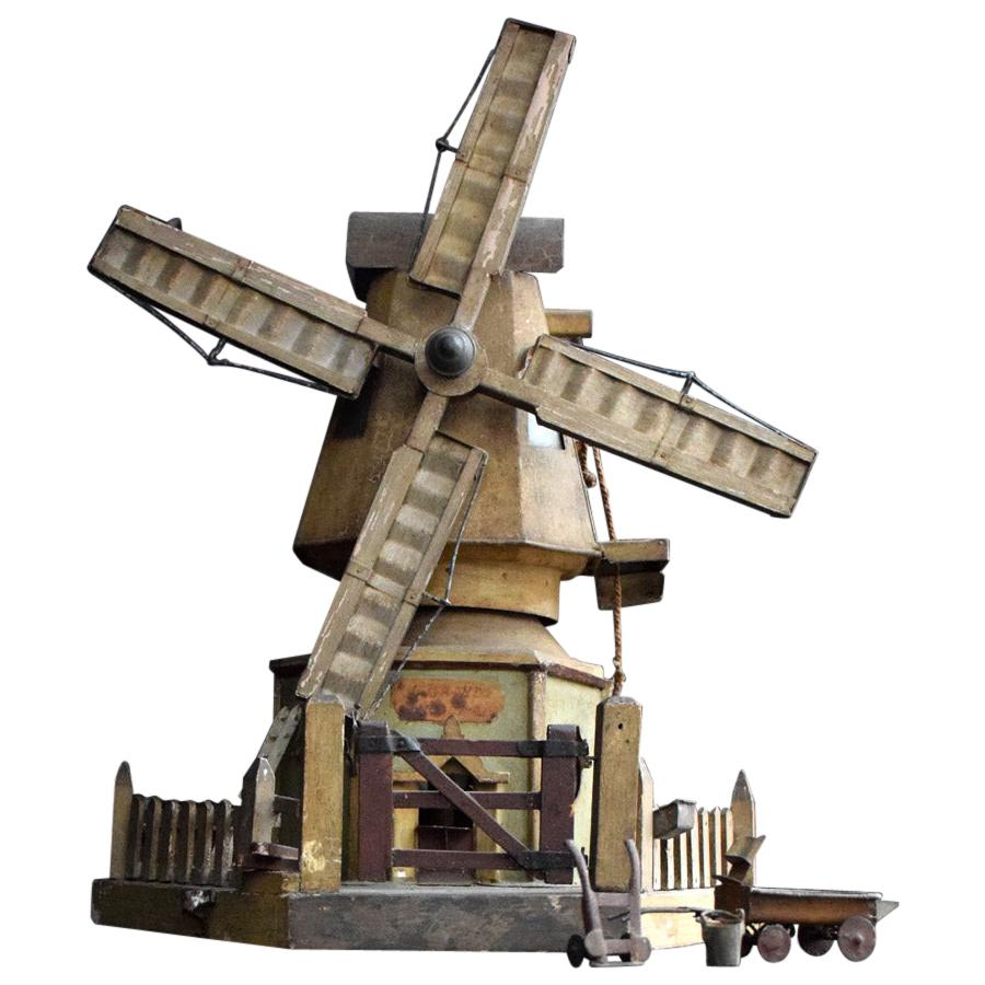 Early-20th Century English Working Scratch Built Windmill Model
