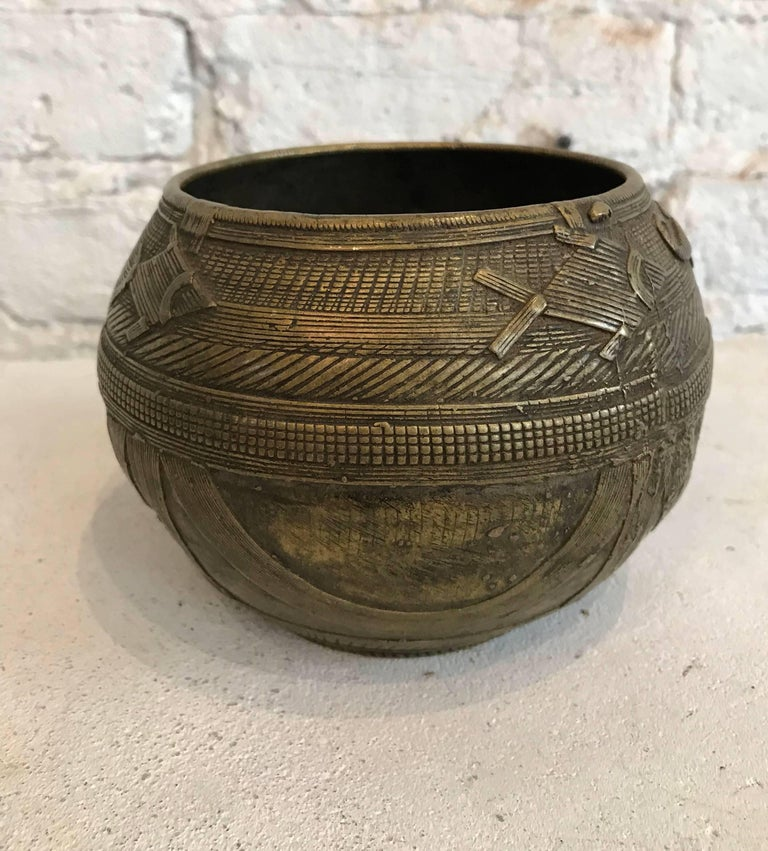 Indian Early 20th century Dhorkra Measuring Bowl  For Sale
