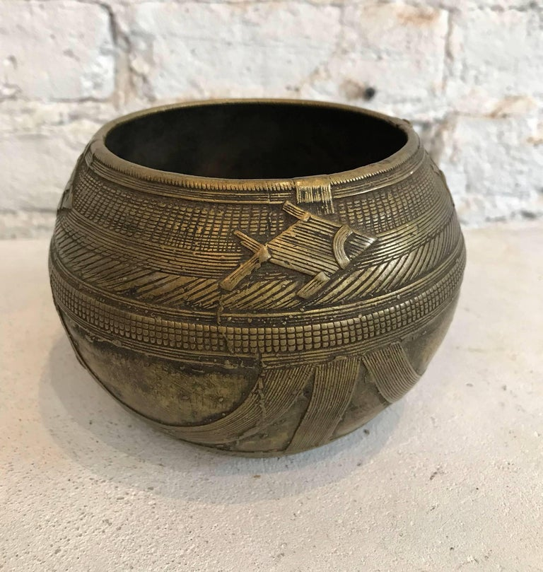 Cast Early 20th century Dhorkra Measuring Bowl  For Sale